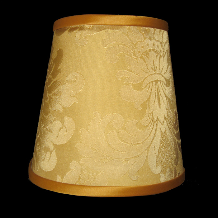 Yellow Gold Lamp Shade With Pattern